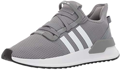 adidas Originals Unisex-Kid's U_Path Running Shoe, Grey/White/Black, 6 M US Big Kid