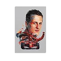 マイケルシューマッハー車のポスター ポスター壁画室内装飾壁アートギフト写真プリントリビングルーム装飾現代アート子供部屋ポスター 12×18inch(30×45cm)Unframe-style1