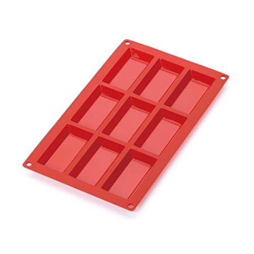Lékué Gourmet - Molde para Mini bizcochos, Nueve cavidades, Color Rojo