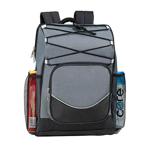 Backpack Cooler Backpack Insulated, Hiking Backpack Coolers, Travel Backpack Great Soft Cooler Bag for Backpacking, Camping, Picking Bag, Beach Bag, Lunch Bag for Women and Men, 20 cans (Grey)
