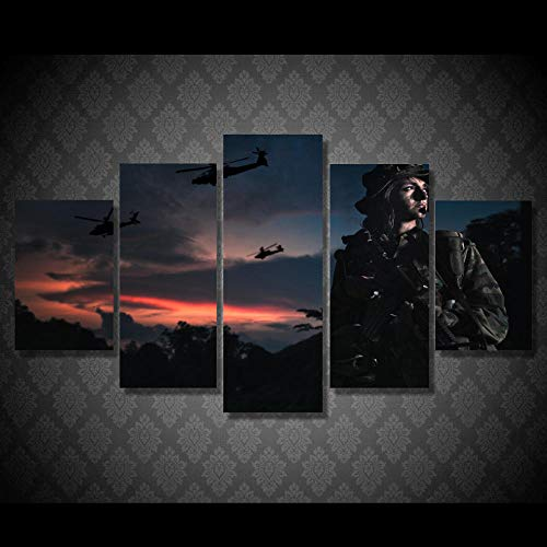 CGHBDOP Frame Living Room Hd Printed Painting 5 Piece Modern Wall Art Pictures Only God Can Judge Me Music Home Room Decoration Posters Living
