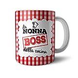 Tazza Mug Idea Regalo Festa dei Nonni Nonna Boss della Cucina
