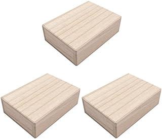 小さな桐箱 総桐箱 ミニサイズ 3個セット (小さなアクセサリーやパーツの収納・保管に最適)