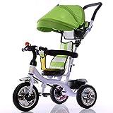 Carritos y sillas de Paseo Triciclo para niños, 1-5 años, Rueda vacía de Titanio, Cochecito de bebé, Cochecito de bebé, Coche de Juguete Bebé Sillas de Paseo (Color : A)