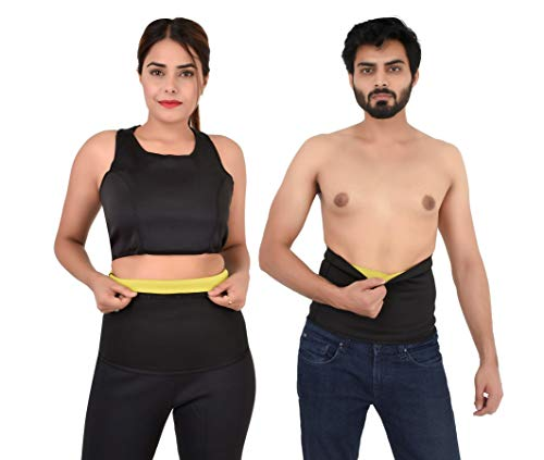 DAZIBAO ® Shaper Belt Non-Tearable Tummy Trimmer Slimming Belt for Men and Women (Size 3XL, Black)