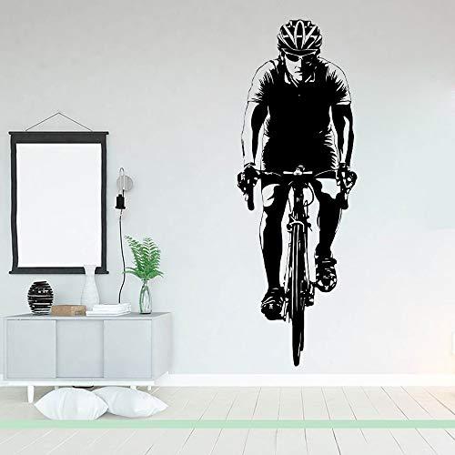 Etiqueta engomada de la pared del vinilo de los deportes de la bicicleta Etiqueta engomada desprendible creativa de la pared