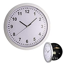 Yosoo Wall Clock with Hidden Safe, Wall Clocks with a Hidden Compartment Stash Box for Money Stash Jewelry Storage