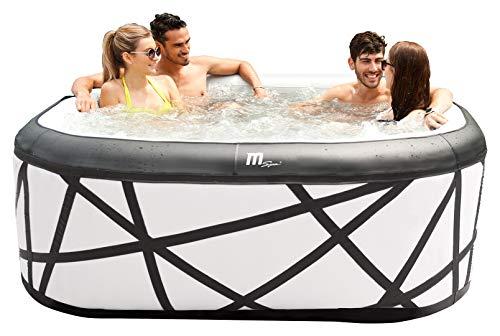 Miweba Premium MSpa Aufblasbarer Whirlpool Outdoor Soho P-SH069-132 Massagedüsen - Ozongenerator - für 6 Personen - Tüv GS geprüft - 930 Liter - Pool aufblasbar