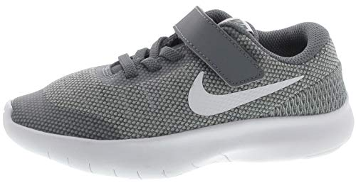 Nike Kids Flex Experience RN 7 (PSV) Running Shoes (3 M US Little Kid, Wolf Grey/White/Cool Grey)