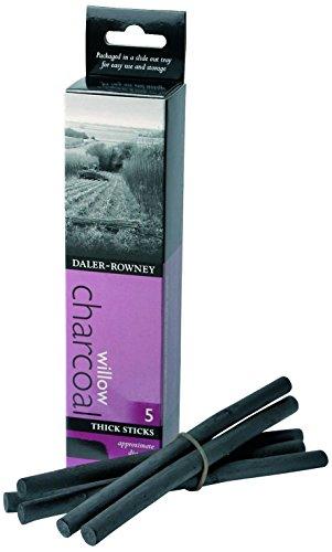 Daler Rowney - 808030005 - Kit De Loisirs Créatifs - Fusain Épais - 5 Bâtons