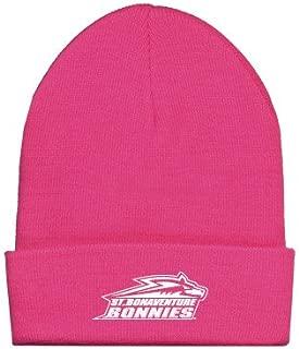 St Bonaventure Fleece Lined Neon Pink Knit Beanie 'Official Logo'