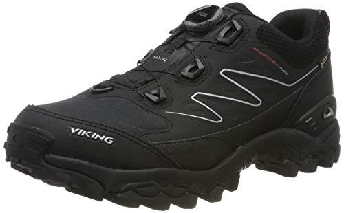 viking Unisex-Erwachsene Anaconda 4x4 Boa GTX Trekking- & Wanderhalbschuhe, Schwarz (Black/Orange 231), 45 EU,Trekking- & Wanderschuhe