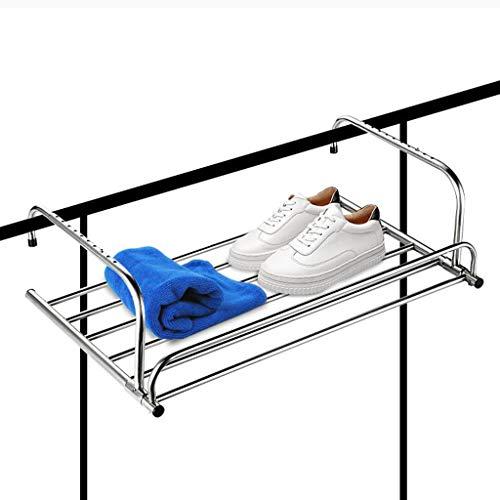 QXXLYS Faltbarer Wäscheständer, Fensterbrett-Balkon-Wäscheständer, Innen- und Außenwäschetrocknung 60cm