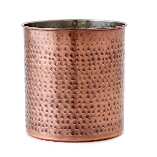 Old Dutch 1849JB Jumbo Hammered Antique Copper H x 7quot Dia Utensil Holder 7x7x75