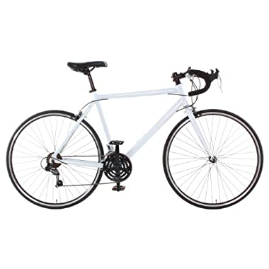 Vilano Aluminum Road Bike Commuter Bike Shimano 21 Speed 700c Medium (54cm) Bicycle, White, 54 cm/Medium