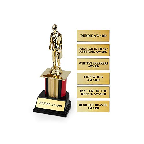 Toynk/Just Funky The Office Dundie Award Replica Trophy | Host Your Own The Office Dundies Awards Ceremony | Includes 6 Interchangeable Title Plates | Measures 8 Inches Tall