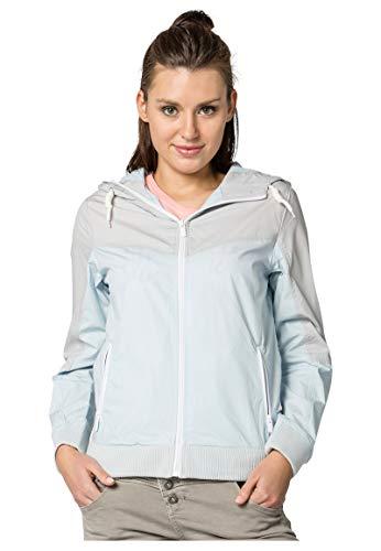 Sublevel Leichte Damen Jacke im Colorblock-Style mit Kapuze Light-Blue XS