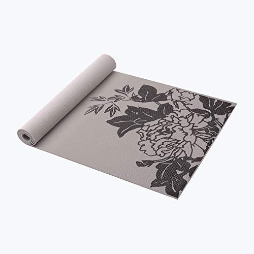Gaiam 05-61333 Premium Print Yoga Mat, 6mm, Citron Sundial
