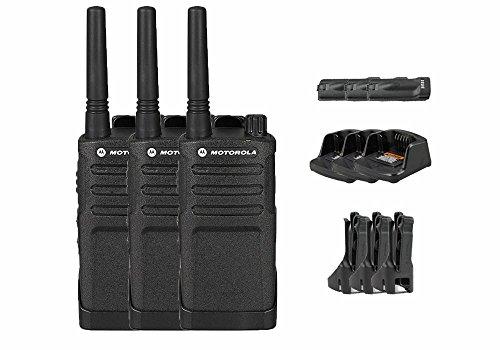 3 Pack of Motorola RMU2040 Business Two-Way Radio 2 Watts/4 Channels Military Spec 20 Floor Range