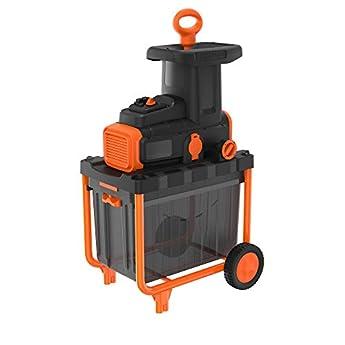 Foto di BLACK+DECKER Biotrituratore con Motore a Induzione - Capacità di taglio 4,5 cm, Capacità di raccolta 45 Litri 2800 W, BEGAS5800-QS