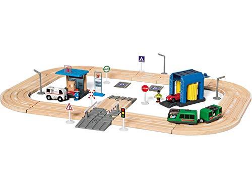 Playtive Autobahn Set - Umfangreiches Zubehörset - 57-teilig