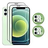 Lwxfxbh 4 en 1 película de Cristal Protectora para I-Phone 12 Pro MAX para i-Phone 11 12 Pro XR XS X Glaso Mini Screen Protector Cámara Lente Película