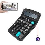 GEQWE Calculadora Portátil Oculta, Cámara Espía WiFi 4K HD, para Monitor De Seguridad para El Hogar, Videograbadora, Detección De Movimiento con Visión Nocturna De 90 Ángulos