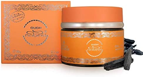 Bakhoor Oudh Nabeel Black - 60 GMS by Nabeel I Beautiful Smelling Popular Oudh, Gentle to Burn and Slow to Release I Formerly Oudh Etisalbi I Musk, Oakmoss, Coumarin, Geranium I by Nabeel Perfumes