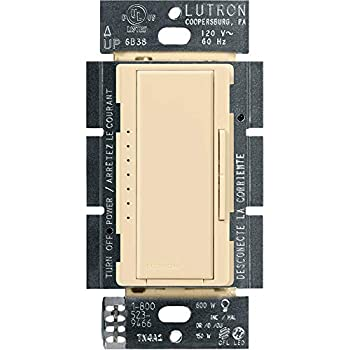 Lutron Maestro LED+ Dimmer for Dimmable LED Halogen and Incandesent Bulbs | Single-Pole or Multi-Location | MACL-153M-IV | Ivory