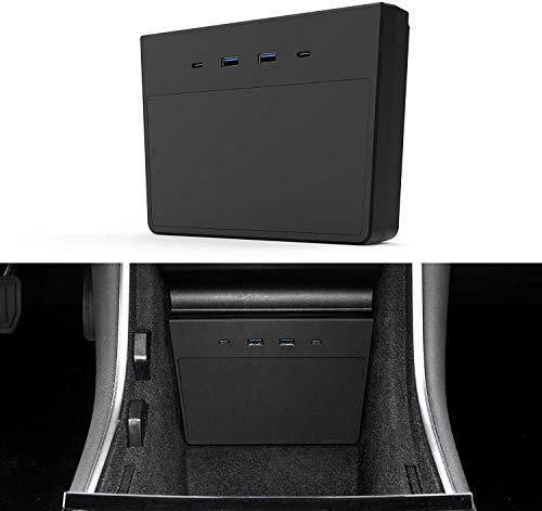 VXDAS Tesla Model Y USB Hub, Dashcam & Sentry Mode Viewer USB per Tesla Model Y e Model 3 dopo giugno 2020, Custom Designed Model 3 Tesla Model Y Accessori con 5 in 1 Porte