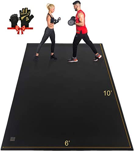 GXMMAT Extra Large Exercise Mat 10 x6 x7mm Ultra Durable Workout Mats for Home Gym Flooring product image