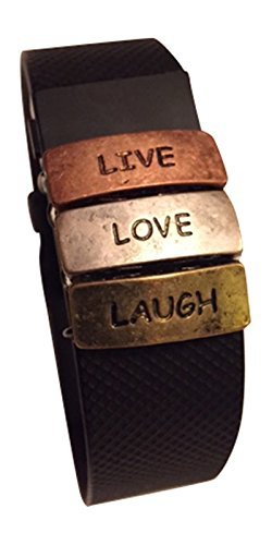 Fitband Fun 'Live, Love, Laugh Fitness Band Accessory for Fitbit Charge, Charge HR, Charge 2, Teslasz