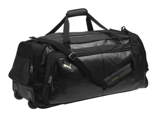 PUMA sporttas KING Wheel Bag, zwart-goud, UA