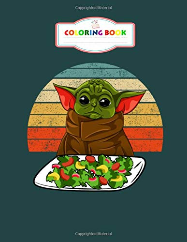 Coloring Book: baby yoda meme woman yelling at table dinner - for Kids Ages 2-8 -  8.5 x 11 Inches