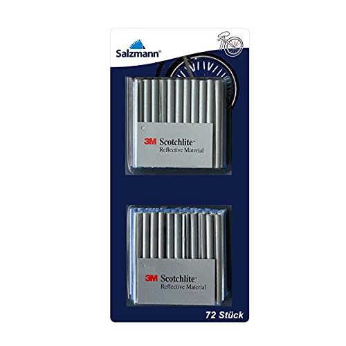 Salzmann patentierter Speichenreflektor - 72 Stück mit 3M Scotchlite Reflektormaterial - passend für alle gängigen Speichenräder