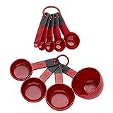 KitchenAid Messlöffel SET, 1,25ml bis 237ml, Rot, KitchenAid Measuring Cup/Spoon Set Empire Red by KitchenAid