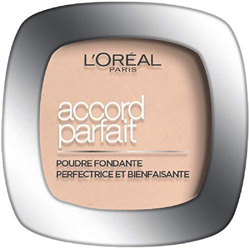 L'Oréal Paris - Poudre Fondante Accord Parfait - Peaux Normales à Mixtes - Teinte : Beige (4.N) - 9 g