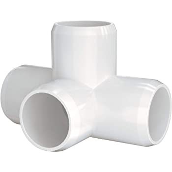 Build Heavy Duty PVC Furniture and Plumbing Projects Available 3-Way//4-Way//5-Way PVC Connectors for SCH40 3//4 Inch PVC Pipe letsFix PVC Elbow Fittings 3//4 Inch White Pack of 10