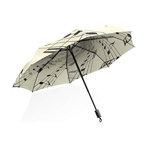 Umbrella Musiknoten auf altem Vintage-Papier 3-fach leichtes Anti-UV-Papier