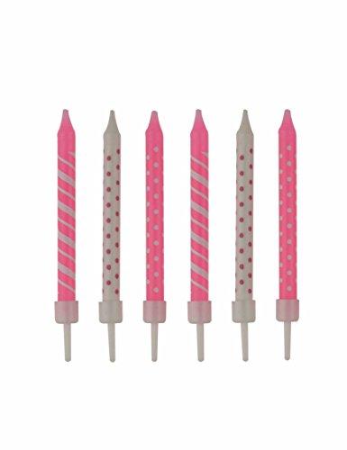 12 taartkaarsen * Baby Girl * voor de eerste verjaardag of de geboorte // kinderverjaardag meisje kind decoratie kaars verjaardag