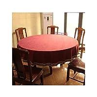 テーブルクロス ラウンドソリッドカラーテーブルクロス、コットンリネンラウンドテーブルカバーキッチンダイニングルームレストランパーティーデコレーション、4色、7サイズ (Color : B, Size : 200cm)