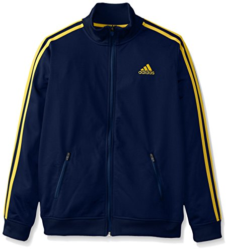 adidas Big Boys' Separates Training Track Jacket, Navy/Yellow, X-Large/18