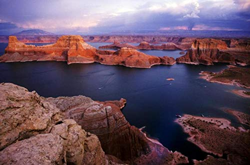 Lake Powell Scenery 5D DIY Diamond Painting Full Drill Round Rhinestones Embroidery Cross Stitch Arts Mosaic Wall Home Decor Gift Unfinished