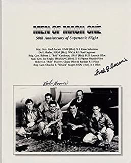MEN OF MACH ONE (Fred Ascani & Bob Hoover) 8x10 Historical/Political Photo Signed In-Person