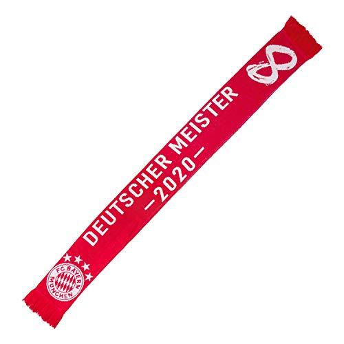 FC Bayern München Schal - Deutscher Meister 2020 - Fanschal, Scarf FCB - Plus Leszeichen I Love München