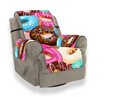 JOCHUAN Glazed Donuts Seamless Sofa Cushion Inserts Kid Chair Slipcover Sofa Recliner Cover Furniture Protector for Pets, Kids, Cats, Sofa