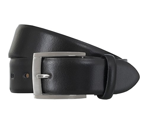 LLOYD Leder Gürtel 1375 verschiedene Farben, Farbe:Schwarztöne, Länge:90 cm