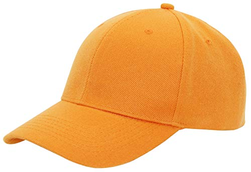 AZTRONA Baseball Cap Men Women - Adjustable Plain Sports Fashion Quality Hat, ORG Orange