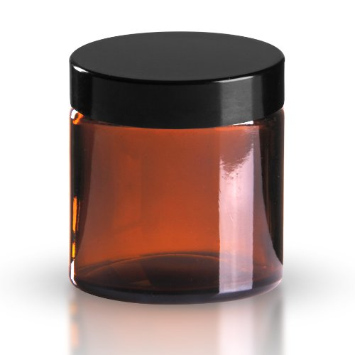 5 x Glastiegel Braunglas 120ml / Salbentiegel / Cremetiegel inkl. Schraubverschluss Bakelit schwarz 58mm/R3