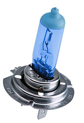 Krawehl Bombillas Halógenas H7 Metal Blue de 12V y 55W para Faros Delanteros. Luz Blanca Azulada de Aspecto Xenón y el 60% Más de Visibilidad - 4300K - Estuche con 2 unidades